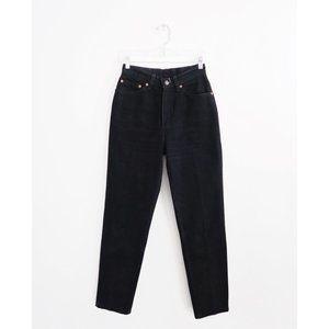 Vtg 90s Levi's 512 Black High Rise Slim Jeans 26